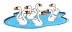 ...seven swans a-swimmming...