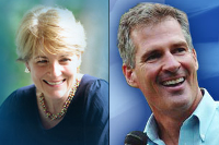U.S. Senate candidates Martha Coakley and Scott Brown