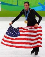 Gold medalist Evan Lysacek