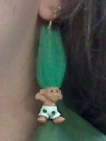 Irish troll earrings