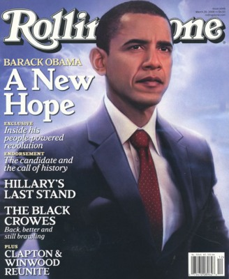 Obama Rolling Stone glow cover