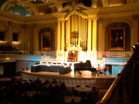 The Great Hall of Mechanics Hall, featuring the Hook Orgam