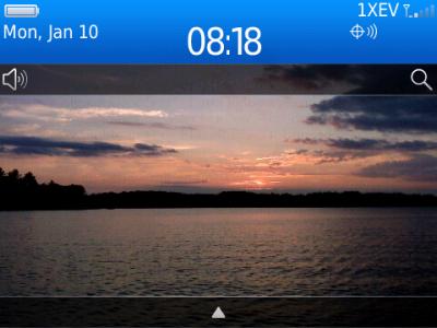 BlackBerry screen shot