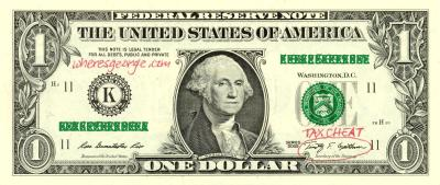 One dollar bill - click to view larger