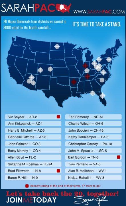 Sarah Palin's target map