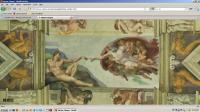 Virtual Sistine Chapel screen shot