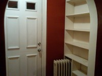 Front entry shelves