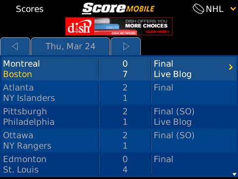ScoreMobile screen shot