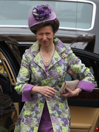 Princess Anne topped by a vegetable