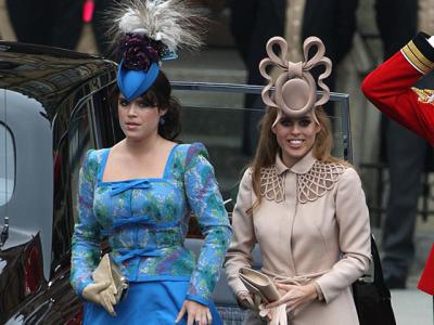 Princesses Eugenie and Beatrice and their, um, dates