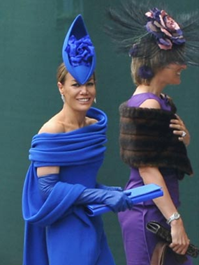 Tara Palmer-Tominson, famous for being famous and for wearing boats on her head