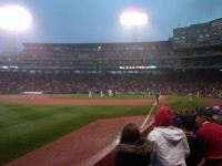 The view from our seats: Looking up the third base line