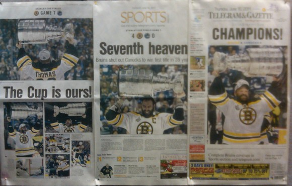 Telegram & Gazette Stanley Cup headlines
