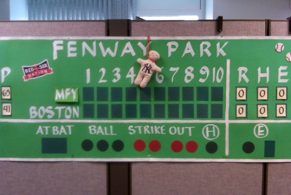 Scoreboard prior to Red Sox 2011 home opener