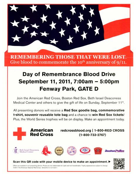 Day of Remembrance Blood Drive