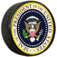 Presidential hockey puck