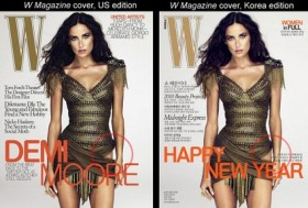 Demi Moore's W magazine covers (click to view larger)