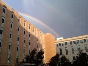 Rainbow from outside