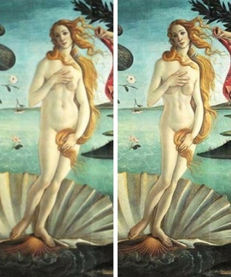 Venus before and after