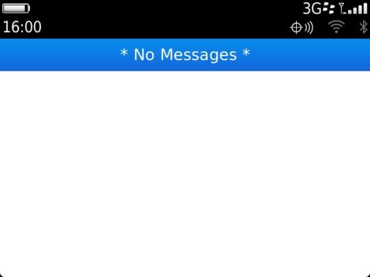 Empty BlackBerry message list