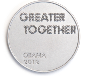 Obama 2012 fine art pin