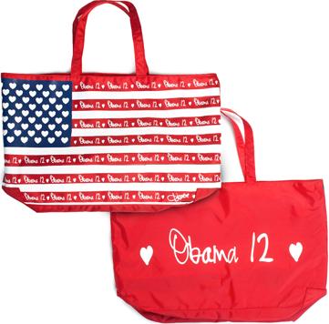 Obama 2012 nylon tote bags
