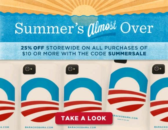 Obama store 25% off sale