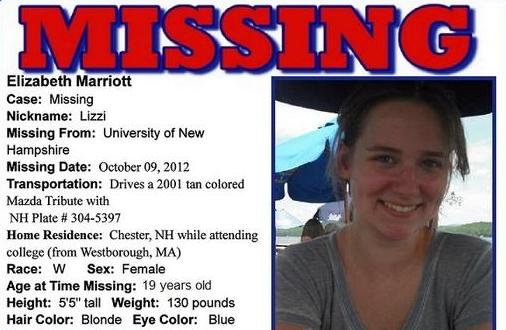 Lizzi Marriott missing