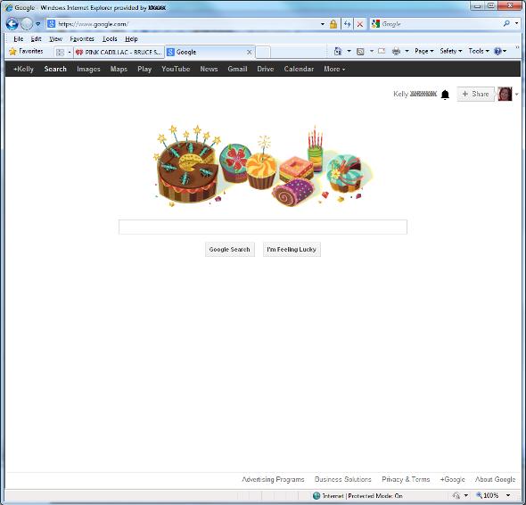 Google search page, July 12, 2013