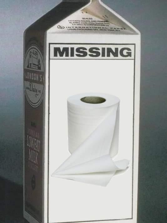 MISSING: TOILET PAPER